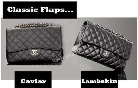 Chanel caviar e lambskin