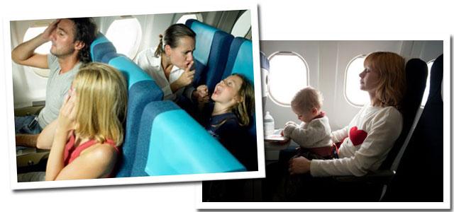 Etiqueta no avião