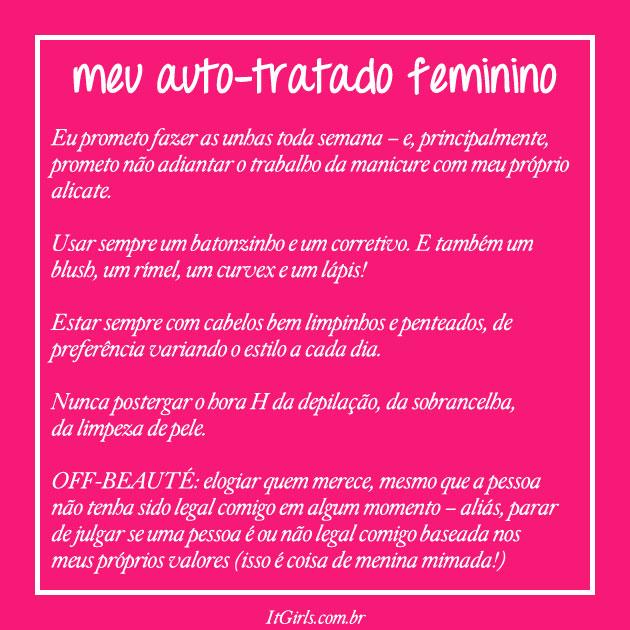 Auto tratado feminino