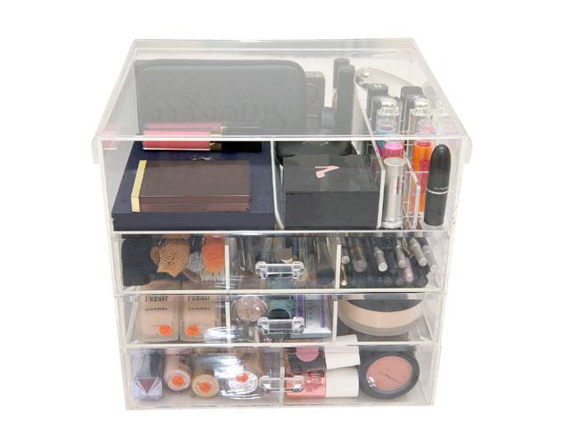 caixa de acrílico maquiagens