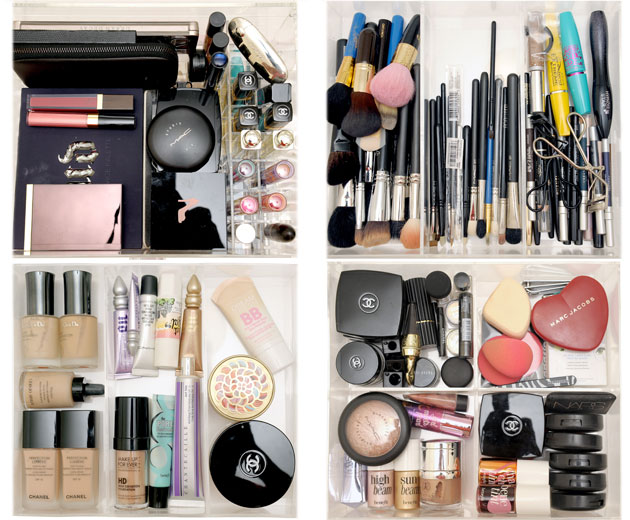 caixa de maquiagem divisórias