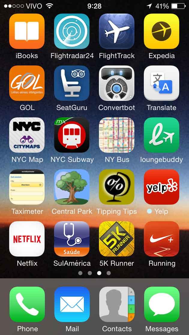 apps de viagem no iPhone