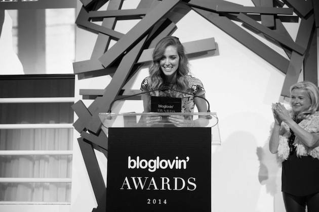 Chiara Ferragni Bloglovin Awards