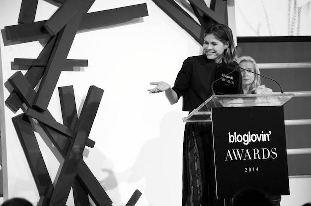 Emily Weiss Bloglovin Awards