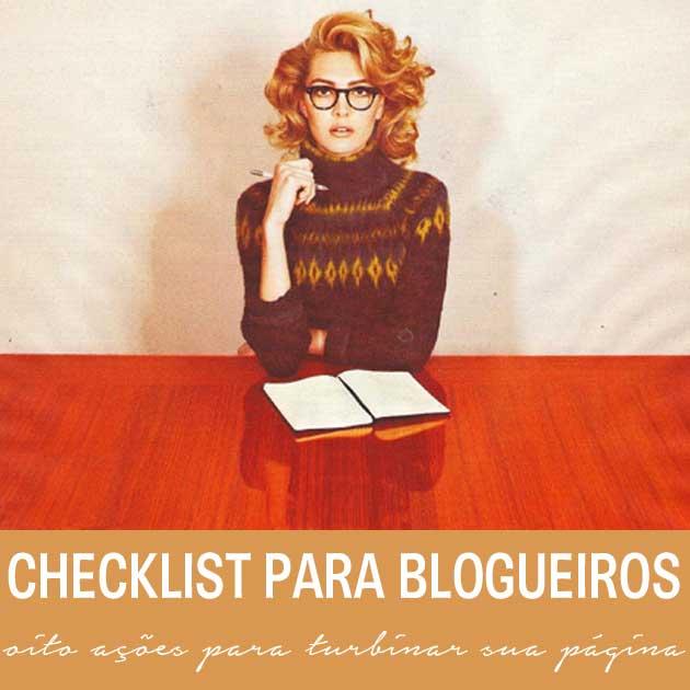 checklist para blogueiros