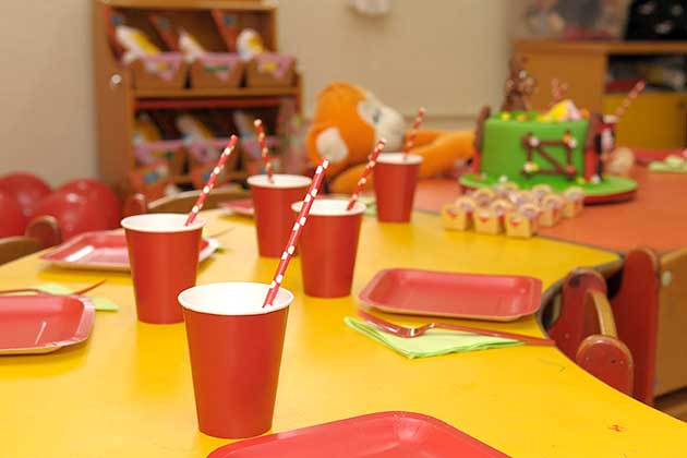 mesa posta festa três porquinhos