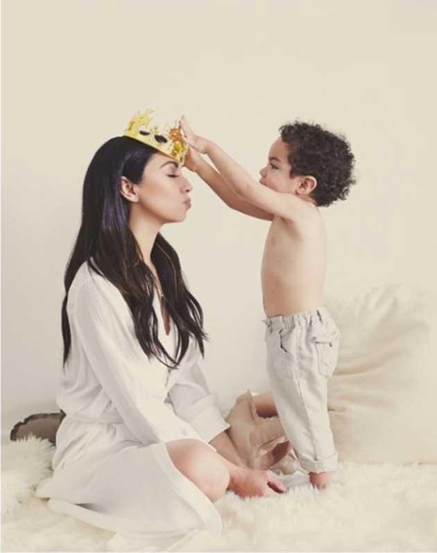 Monica Rose e filho