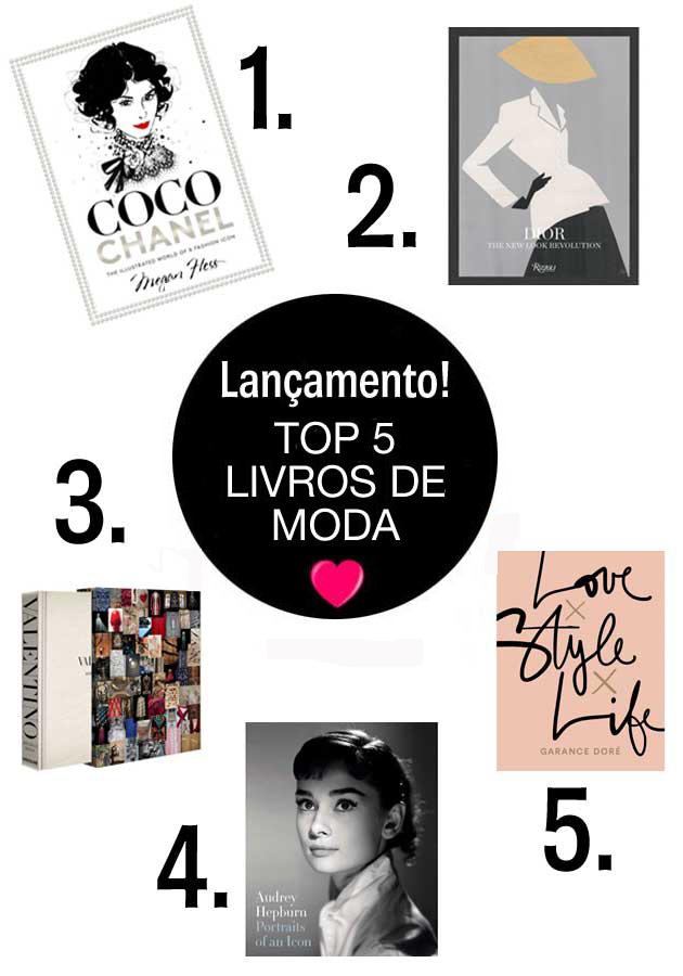top 5 livros de moda